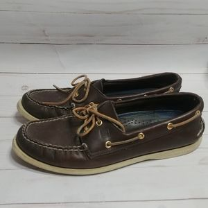 Brown Leather Sperry Top Sider Boat Shoe